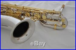 Professional Taishan Silver Nickel Gold Eb Baritone Saxophone Low A 2neck +Case