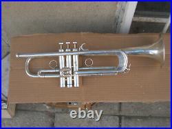 Rare Silverplated France Courtois Paris Evolution 4 Trumpet /hard case -working