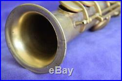 Rare vintage Buescher C Soprano Saxophone 1922 Original Gold Plate