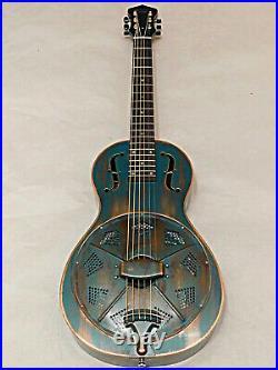 Recording King RM-993-VG Swamp Dog Parlor Resonator Guitar Distressed Vintage Gr