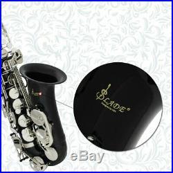 SLADE Nickel Plated Bass Body Eb Alto Saxophone Sax Set With Tuner + Case Set US