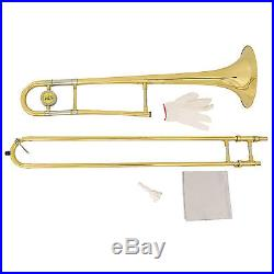 School Band Student Bb Slide Trombone BB Professional with Tuner, Case, Care Kit