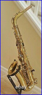 Selmer Mark MK 7 VII Alto saxophone with white roo pads