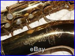 Selmer Super Cigar Cutter Alto Saxophone #147XX Recent Pads Complete, PlaysGreat