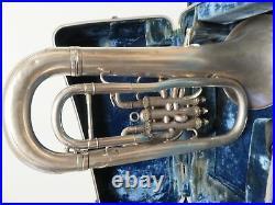 Silver Besson Euphonium Compensating 623199 England NewStandard