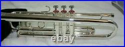 Silver Getzen Doc Eterna Trumpet Gold Wash Bell