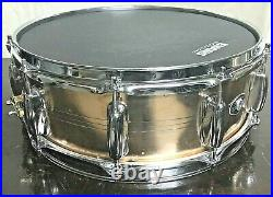 Slingerland-14x 5-Brass-Sound King Snare Drum-10 Lug-Vintage