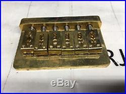 Solid Brass Jake E Lee Hard Tail Fixed Guitar Bridge Charvel