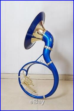 Sousaphone 22 inch Blue color Bb pitch with bag + MP