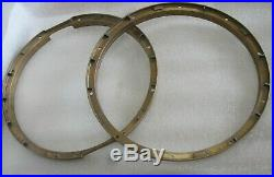 Top And Bottom Bell Brass Tama 14 10-hole Snare Hoops