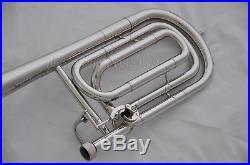 Top Silver Bb/F Key Bass Trombone 9.2'' Bell Trigger Cupronickel tuningpipe