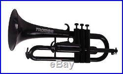 Tromba Pro Professional Plastic Bb Flugelhorn, Black