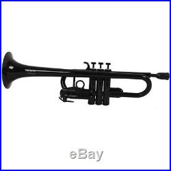 Tromba Pro Professional Ultralight Plastic C Trumpet, Black