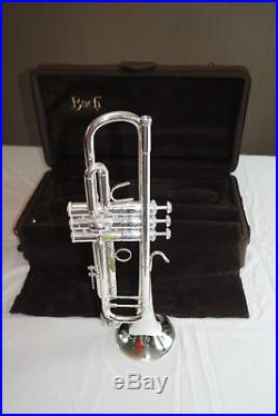 Used Bach Stradivarius Silver Trumpet with ML bore with Artisan Bell