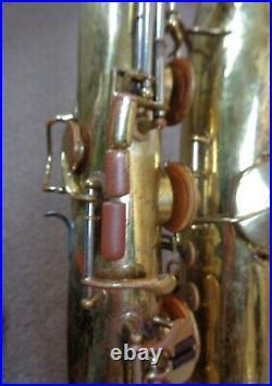 Used circa 1948 King Zephyr Baritone Saxophone withCase and Neck
