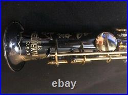 VINTAGE Keilwerth SX90 II soprano saxophone. Rare black nickel/gold keys. BEAUTY