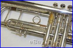 Vincent Bach Stradivarius 37 ML Silver Trumpet with Case mouthpiece