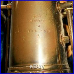 Vintage 1949 Conn 10m Naked Lady Tenor Sax Saxophone With Case Excellent