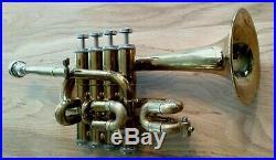 Vintage 1960's Getzen Eterna 940 Professional Piccolo Trumpet w Blackburn Pipe