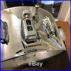 Vintage 70s Slingerland 6.5 Sound King Chrome Over Brass Snare Drum COB