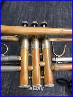 Vintage Bach Stradivarius Trumpet Rare Model 25 Bell Large Bore