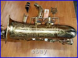 Vintage Buescher Aristocrat Big B True Tone Tenor Sax Saxophone 299759 1942