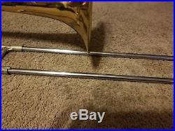 Vintage Conn Elkhart 71H Rotor Bass Trombone Original Case & Mouthpiece