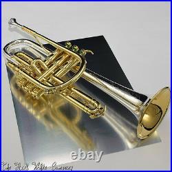Vintage H. N. White King Silver Tone Master Model Cornet Wonderful Tone