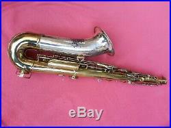 Vintage H. N. White King Super 20 Silversonic Tenor Saxophone