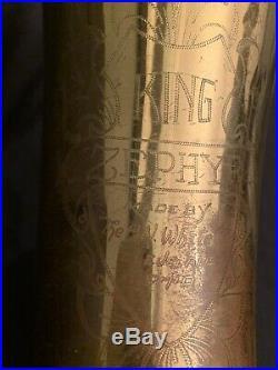 Vintage King H. N. White Zephyr Baritone Saxophone New Pads, NO Neck