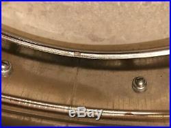 Vintage Ludwig Chrome Over Brass 60s WFL Snare Drum Keystone COB PRE SERIAL #