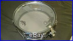 Vintage Rogers Powertone 8 Lug Brass Shell Snare Drum 14 X 5