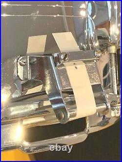 Vintage Slingerland 14x6.5 Chrome Over Brass 10 Lug Gene Krupa Snare-stunning