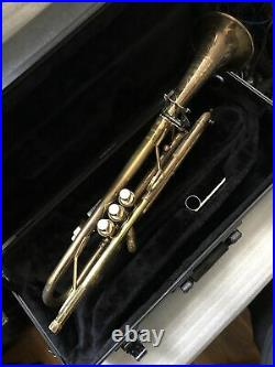 Vintage used King LIBERTY H N White Bb Trumpet With King Case GREAT PLAYER