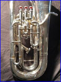 Wilson 2900S Euphonium (Medium European shank Model). Mid 1990's. Silver. Nice
